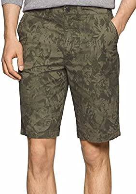Calvin Klein Jeans Men's Overdyed Shorts Olive Night