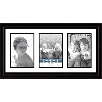 this item timeless frames 10x20 inch fits three 5x7 inch photos lauren collage frame black