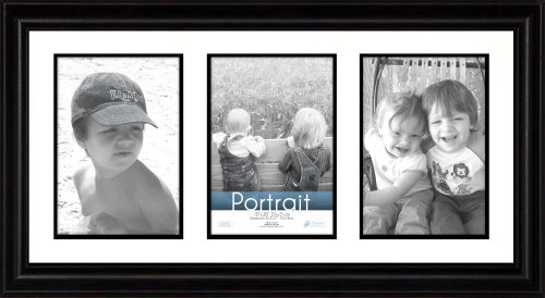 Timeless Frames 10x20 Inch Fits Three 5x7 Inch Photos Lauren Collage Frame, Black (Photo Frames 3x5)