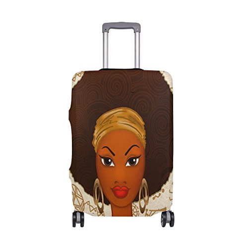 ALAZA Fashion African Women Travel Luggage Cover DIY Prints Protector Suitcase Baggage Fit 18-32 inch