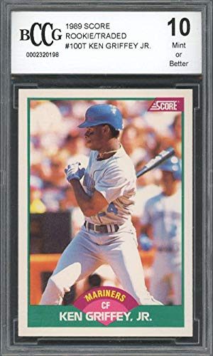 1989 score rookie/traded #100t KEN GRIFFEY JR mariners rookie card BGS BCCG 10 Graded Card