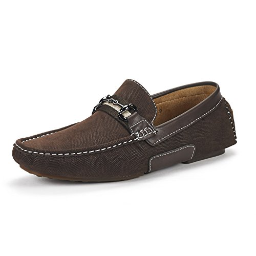 Bruno Marc Mens Santoni-03 Öre Loafers Mockasiner Skor Brun
