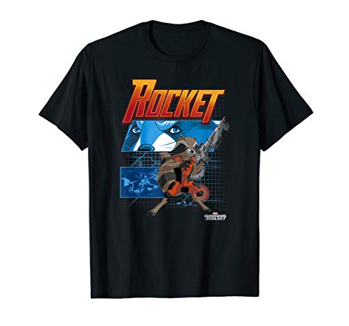 Marvel Rocket Guardians of the Galaxy Schematic T-Shirt