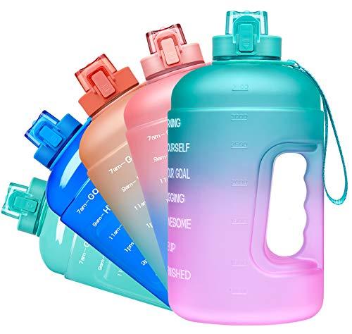 🥇 Venture Pal Large 64oz Water Bottle with Motivational Time Maker & Chug Lid