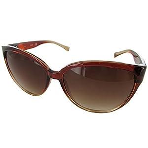 Guess Womens GUF220 Cat Eye Fashion Sunglasses, Brown/Brown