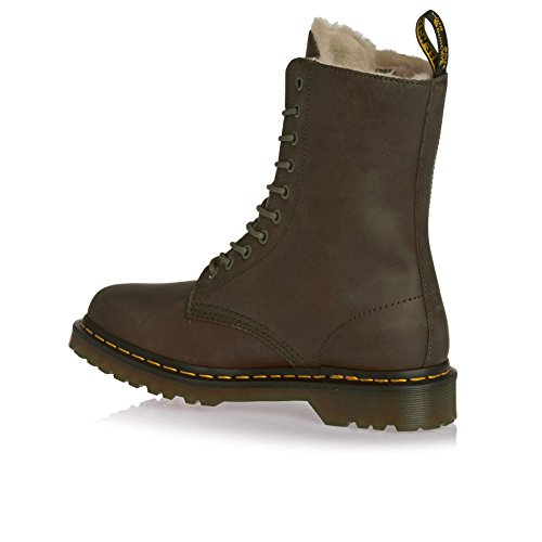 Dr. Martens Woman Boot Black Grenade Green
