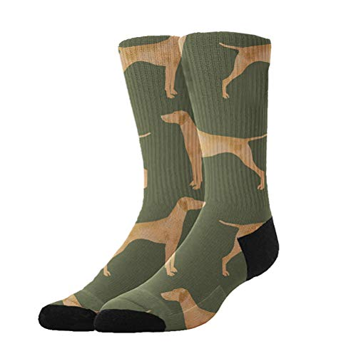 GLORY ART Women's Green Vizsla Dog Winter Super Soft Warm Cozy Slipper Socks,Dress Socks Gift Halloween/X-mas/Holiday Year