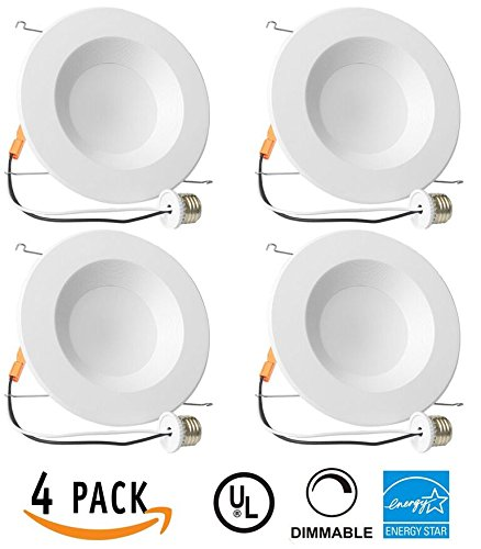 Indicating Light (4 Pack of 13W 5/6inch Dimmable LED Retrofit Recessed Lighting Fixture (=75W) 3000K Warm White Energy Star, UL, LED Ceiling Light - 965 Lumens Recessed LED)