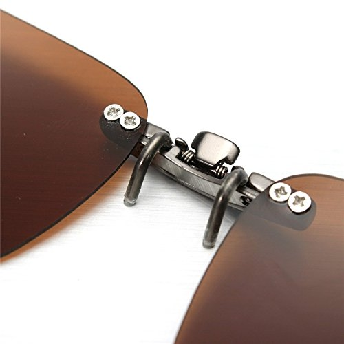 Clip con cristales polarizados para gafas color marron