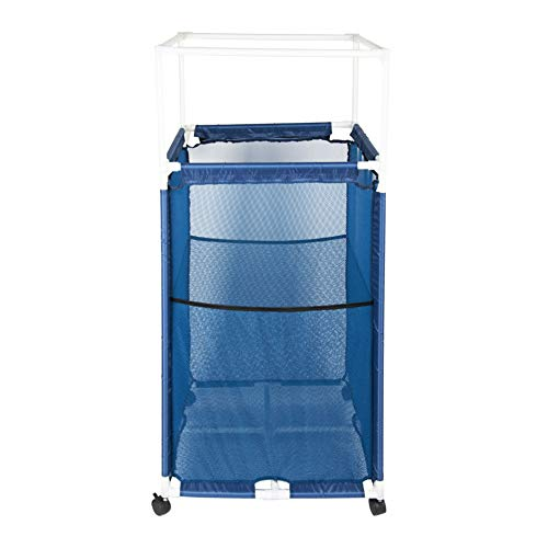 OCEANPAX Blue Pool Storage Bin, Pool Organizer Pool Storage Containers Basketball Volleyball Storage Beach Toy Storage Mesh Storage Bins for Kids Holiday Maker and Beach Party.
