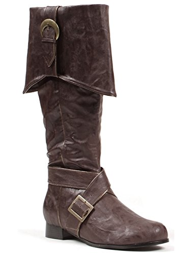 "Ellie Shoes Men's 121-JACK 1"" Heel Knee High Brown for sale  Delivered anywhere in USA"