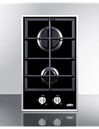 Summit GC2BGL Gas Cooktop, Black