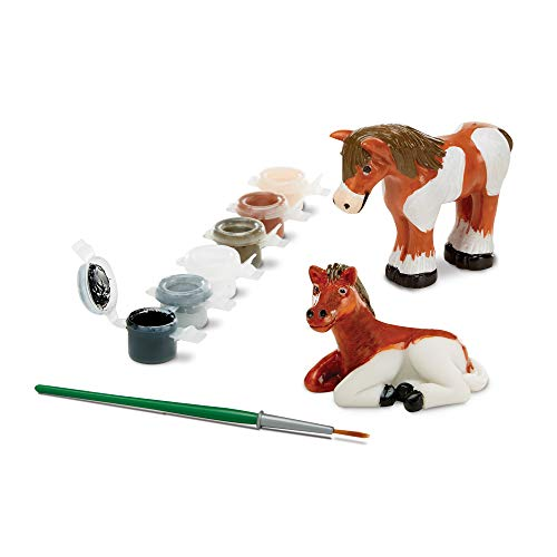 Melissa & Doug Decorate-Your-Own Horse Figurines Craft Kit: 2 Horses to -