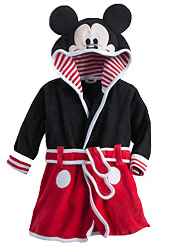 Ameny Children Kids Coral Velvet Animal Cosplay Hoody Bathrobe Cape Suit Mickey Mouse 120cm / US 3-4Y - Cape Mall Coral