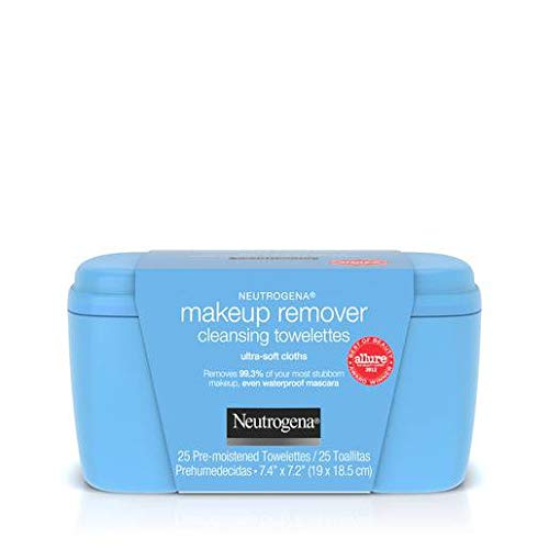 Neutrogena Makeup Remover Cleansing Towelettes, Daily Face Wipes to Remove Dirt, Oil, Makeup & Waterproof Mascara, 25 ct. (Pack of 6)