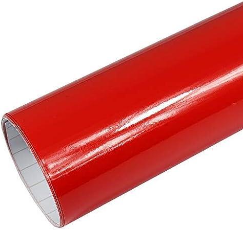 Rapid Teck 5 26 M Premium Glanz Rot 50cm X 1 52m Auto Folie Blasenfrei Mit Luftkanälen Für Auto Folierung Und 3d Bekleben In Matt Glanz Und Carbon Autofolie Küche Haushalt