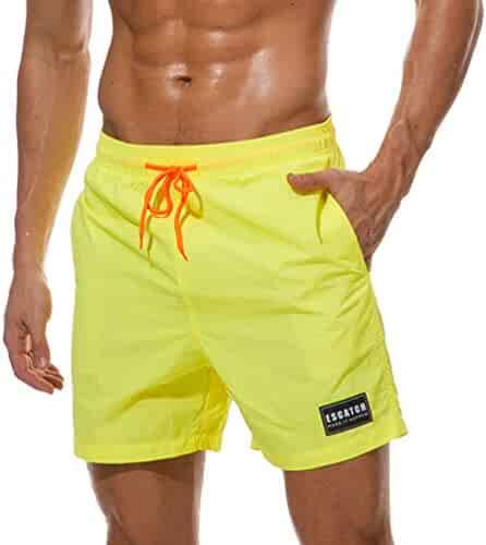 57a69e59fa JIANLANPTT Men's Solid Quick Dry Swim Trunks Water Shorts Swimsuit Beach  Shorts