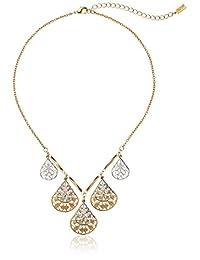 "1928 Jewelry Filigree Teardrop Collar Adjustable Necklace, 16"""