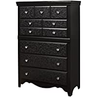 Sandberg Furniture Sandberg Furniture Eva 5-Drawer Chest, Black