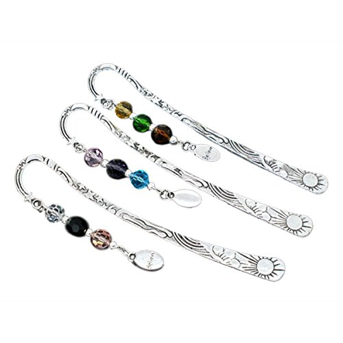 Yunchuang Silver Tone Bookmarks W/Crystal