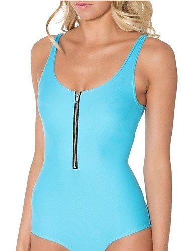 skt-swimwear SMK Damen Candy Farbe einteiligen Badeanzug mit Reißverschluss