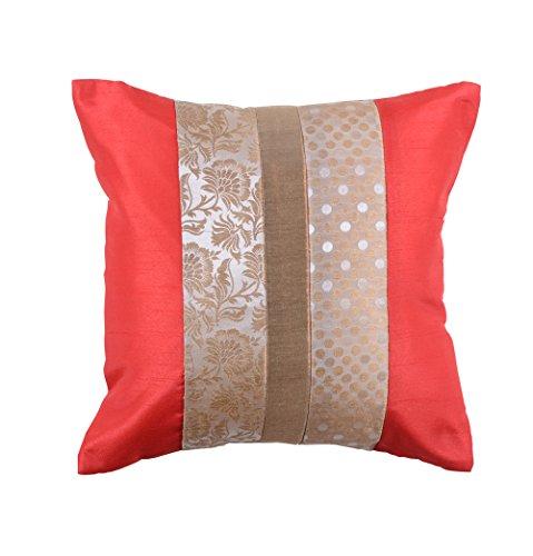 meSleep Brocade Dupion Silk Cushion Covers Floral Weaving Work Living Room Sofa Throw Cushion Cover 12