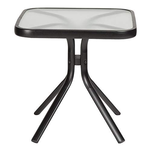 Bay Square End Table - Garden Treasures Pelham Bay Square End Table 18-in W X 18-in L