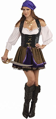 Womens Large 10-16 Black Lace Pirate or Vampire Costume Corset (Halloween Costumes For Women Cheap)