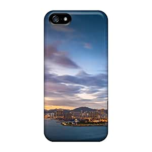 Hsi10864gwGU Snap On Cases Covers Skin For Iphone 5/5s(beautiful Sunset On Hong Kong)