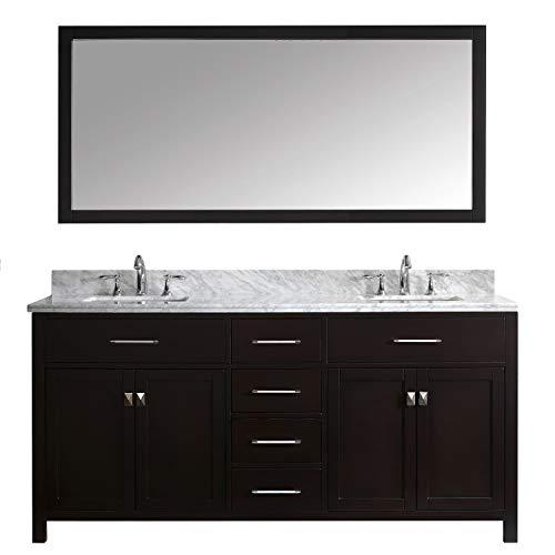 Virtu USA MD-2072-WMSQ-ES Caroline Bathroom Vanity 72 inches - Basin Espresso Vanity