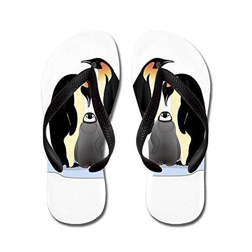 Truly Teague Hombres Emperor Penguin Family Huddled Together Chanclas De Goma Sandalias Negro