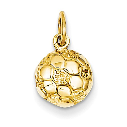 14k Yellow Gold Soccer Ball Charm C587 14k Yellow Gold Soccer Ball