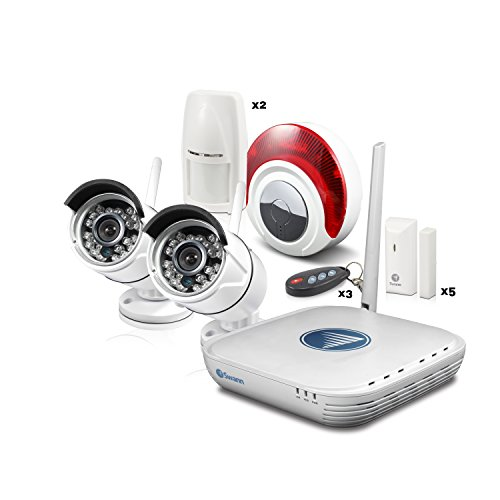 Swann SWNVA-460AH2-US NVA-460 Wi-Fi Video and Alarm Security Kit (White)