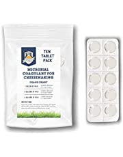 Microbial Rennet For Cheese Making | Vegetarian Rennet Tablets | Milk Coagulant | Vegan Cheese making | Shelf-Stable Rennet Tablets, Perforated For Easy Use