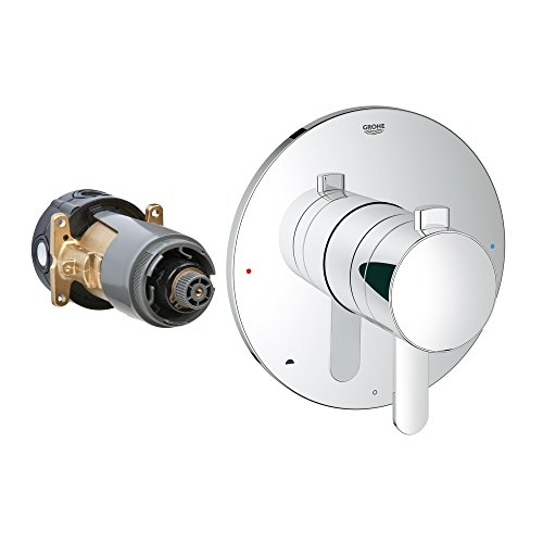 Grohe 19881000 Grohflex Cosmopolitan Dual Function Pressure Balance Trim With Control Module, StarLight Chrome Finish