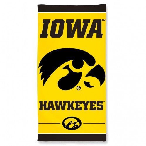 University of Iowa Hawkeyes 30'' x 60''Beach Towel by NCAA (Image #1)