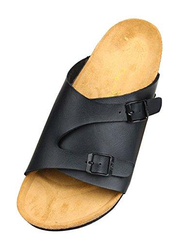 Vestir Sandalias De Negro Hombre Dilize Para YPOYw