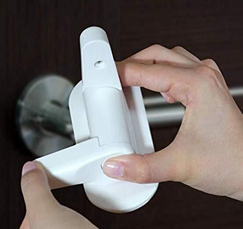 Door Lever Lock Baby Kind T/ürschloss T/ürgriff Schloss einfach zu installieren einfach zu demontieren Kindersicherheitsschutz T/ürschloss 2 St/ück