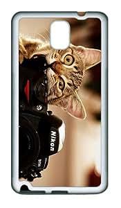 spec case Cat Camera Funny TPU White case/cover for samsung galaxy note 3 N9000
