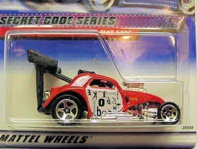 HOT WHEELS 2000 Secret Code Series FIAT 500C 2000 045 #1 of 4 Cars 1:64 Scale