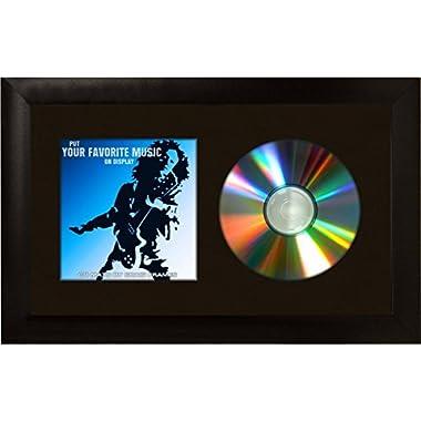 Craig Frames 7x12 Black CD Display Mat Complete w/ 1  Wide Black Frame (CD1WB3BK)