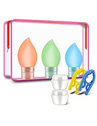 7Pcs TSA Airline Approved Leak Proof Silicone Travel Bottles Set for Liquids with Shampoo, Lotion Sunblock Toiletries