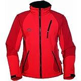 COX SWAIN TITANIUM 3-Lagen Damen Softshell Jacke FOREST - 15.000mm Wassersäule 10.000mm atmungsaktiv, Farbe: Red, Größe: M