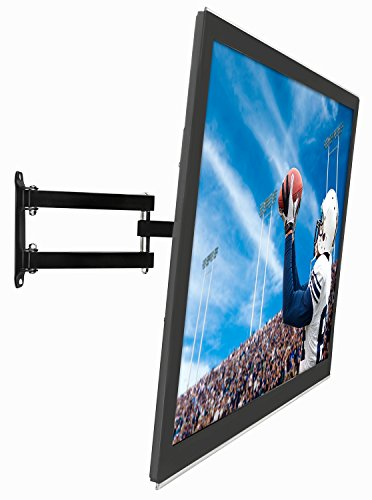 Mount-It! TV Wall Mount Full Motion LCD, LED 4K TV Swivel Bracket for 23-55 inch Screen Size, Compatible with VESA 400x400, 66 lbs Capacity (MI-2065L)