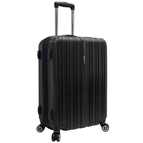 travelers-choice-tasmania-100-pure-polycarbonate-21-expandable-spinner-luggage-black