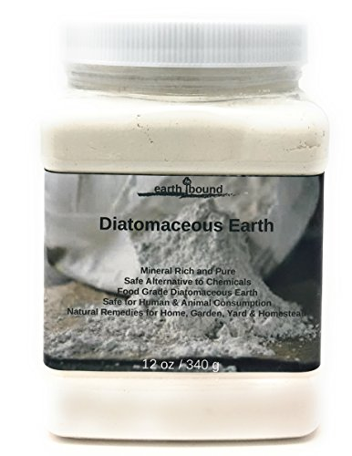 Earth Bound Premium Organic Food Grade Diatomaceous Earth / Pure Mineral Rich and Safe for All Natural Remedies for Home, Garden, Yard & Homestead (1 lb)