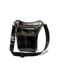 XibeiTrade Vintage Mens Pu Leather Waist Pack Messenger Shoulder Drop Leg Bag