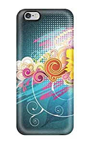 Defender Case With Nice Appearance (attractive Free Vector Flower ) For Iphone 6 Plus