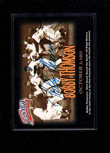 (1997 Fleer Moments #19 Bobby Thomson Authentic Autograph Signature Ay2800 - Baseball Slabbed Autographed Cards)