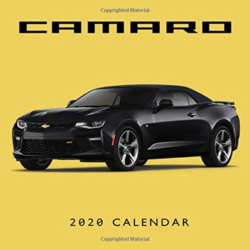 Camaro 2020 Calendar  Monthly Calendar With USA HolidaysandObservances Full Color Photos Automobile Calendar American Muscle Cars